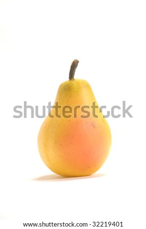 Tasty and isolated pear - stock photo