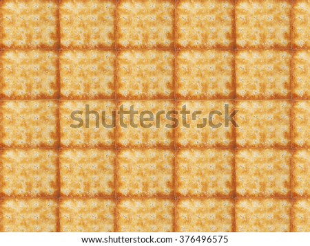 Tasty Biscuits texture closeup details in background wallpaper. - stock photo