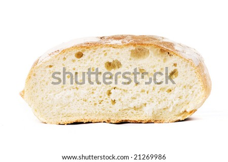 tasty bread isolated on white background