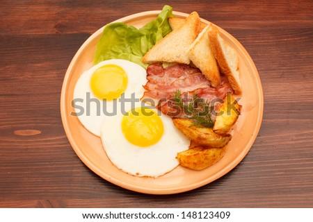 tasty breakfast - stock photo