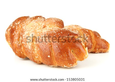 Tasty bun, isolated on white