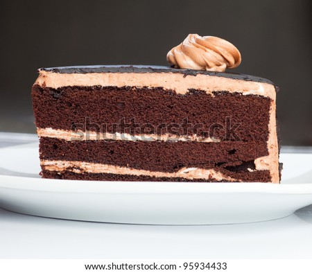 tasty chocolate cake - stock photo