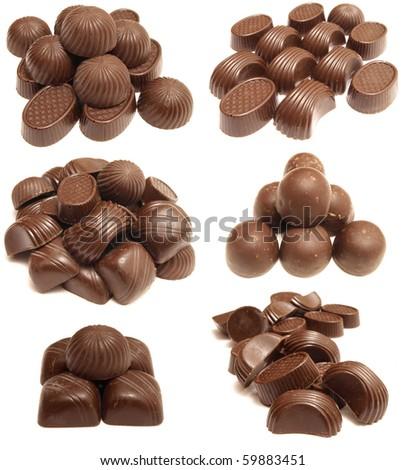 Tasty chocolates - stock photo