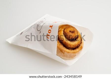tasty cinnamon buns ready for a treat - stock photo