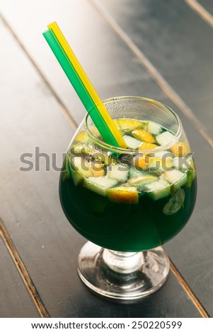 tasty cocktail - stock photo