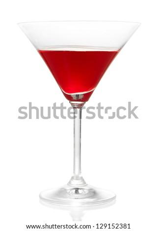 Tasty color liquor, isolated on white - stock photo
