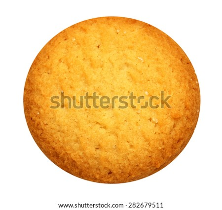Tasty cookies isolated on white background photographed close up - stock photo
