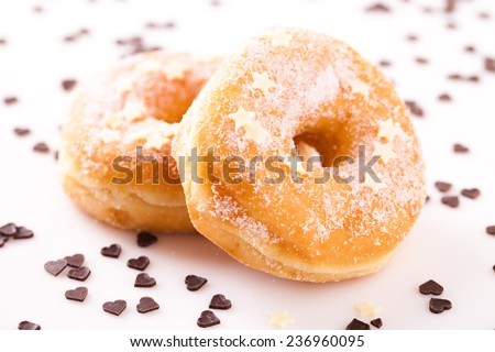 tasty donut with chocolate - stock photo