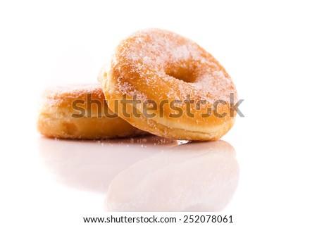tasty doughnut with chocolate - stock photo