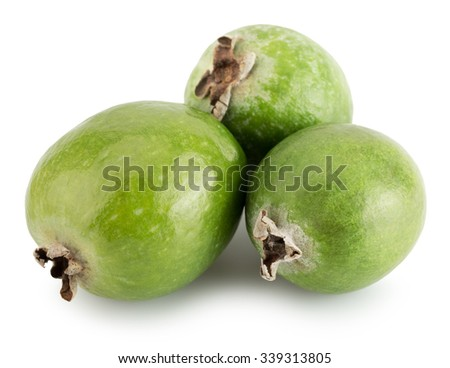 tasty feijoa isolated on the white background
