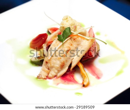 tasty fish appetizer - stock photo