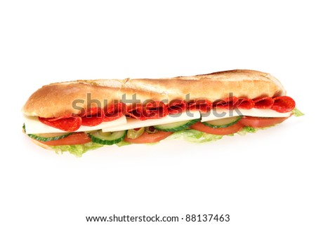 Tasty french baguette - stock photo