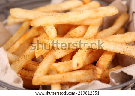 Tasty french fries, close up - stock photo