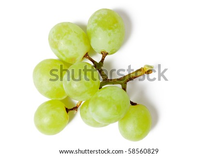 tasty grapes on white background - stock photo