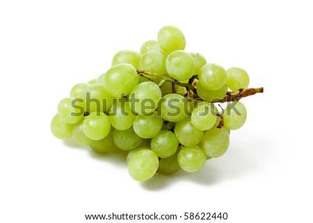 tasty grapes on white background