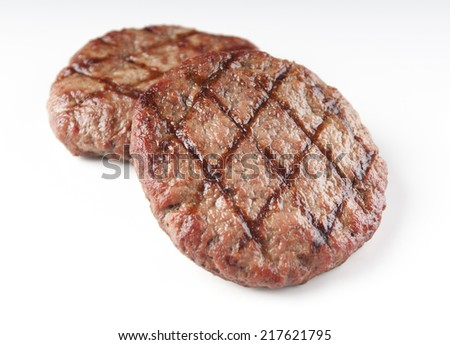 tasty grilled beef burger on a white background for graphic design - stock photo