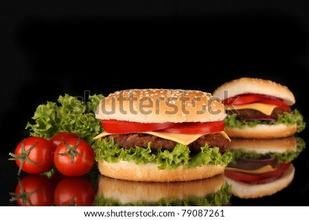 Tasty hamburger - stock photo