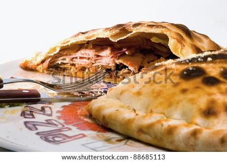 Tasty Italian pizza - stock photo