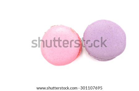 Tasty macaroon isolate on white background