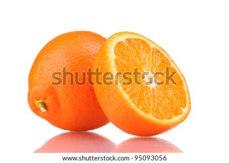 Tasty mandarine isolated on white - stock photo