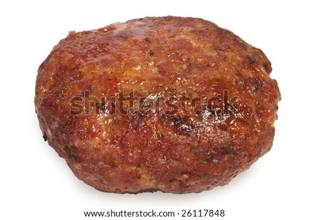 Tasty meatball on bright background