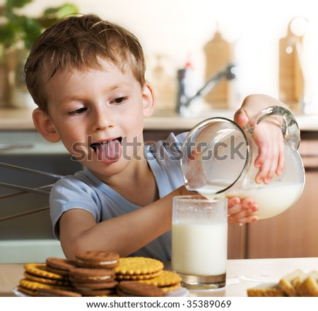 Tasty milk - stock photo