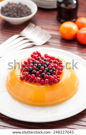 tasty orange jelly dessert