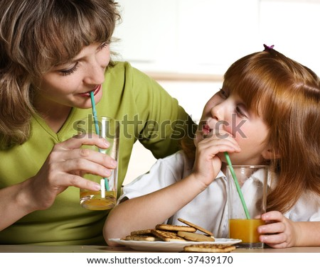 Tasty orange juice - stock photo