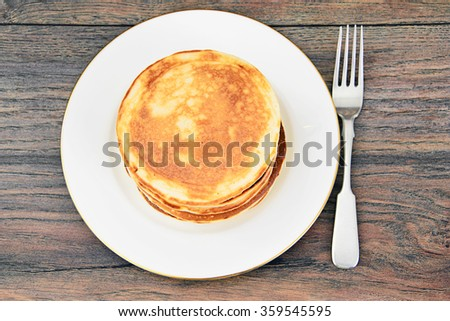 Tasty Pancakes Stack Studio Photo - stock photo