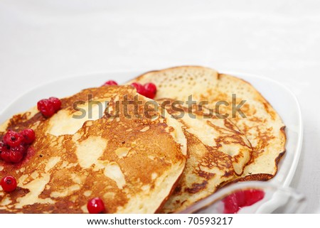 Tasty pancakes with a syrup