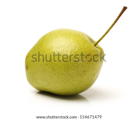 Tasty pear isolated on white background