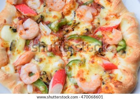 Tasty pizza, Seafood pizza, Pizza with seafood, Pizza with seafood, pizza