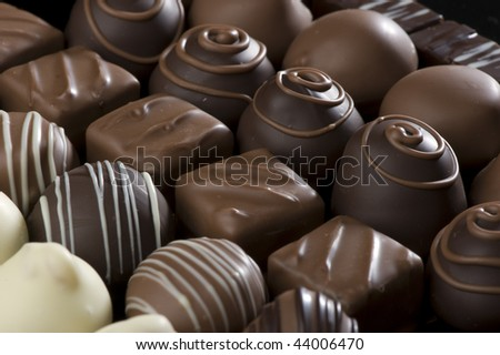 tasty praline chocolates - stock photo