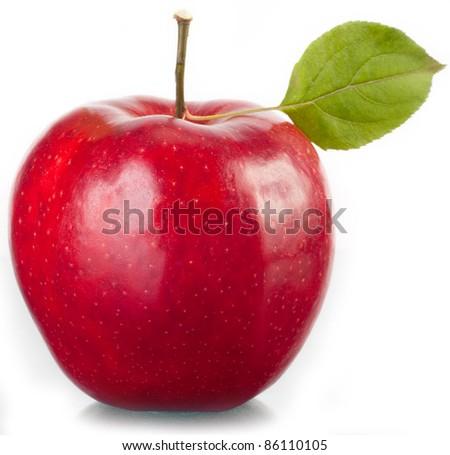 Tasty red apple. - stock photo