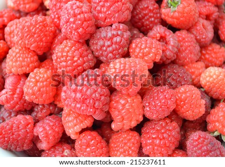 tasty, ripe raspberry close-up