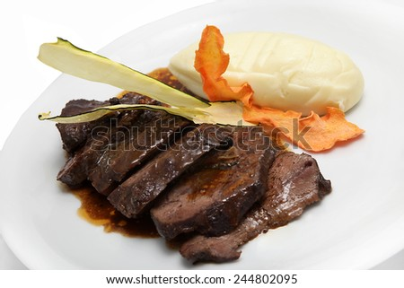 tasty roasted meat - stock photo
