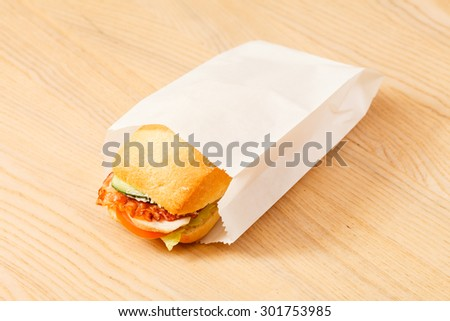 tasty sandwich - stock photo