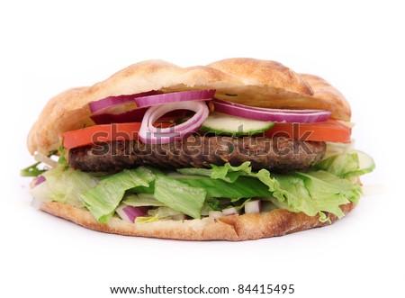 Tasty Sandwich on white - stock photo