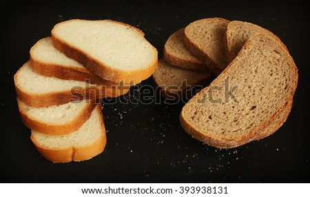 Tasty sliced bread - stock photo
