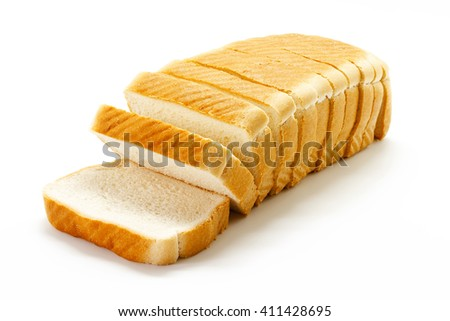 Tasty Sliced Bread isolated on white background - stock photo