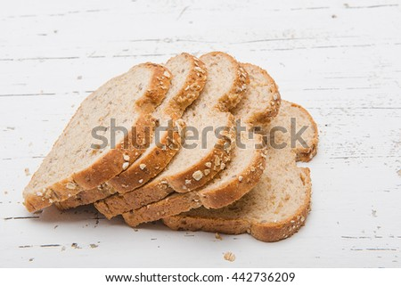 Tasty Sliced Bread with Sesame Seeds - stock photo