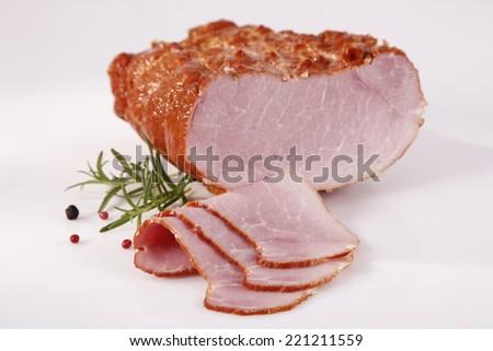 Tasty sliced ham - stock photo