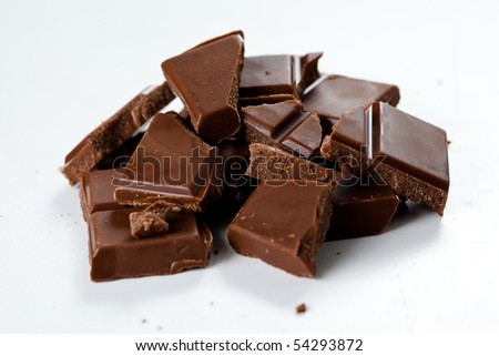 tasty snack chocolate with milk bar isolated
