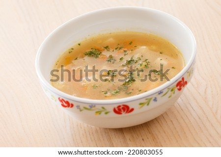 tasty soup - stock photo