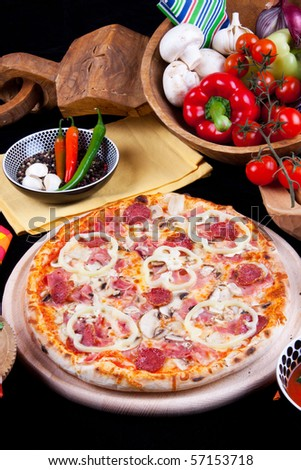 Tasty Special Pizza - stock photo