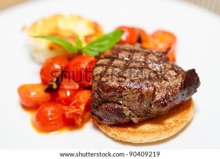 Tasty steak - stock photo