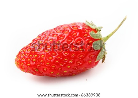 Tasty strawberry isolated on white background