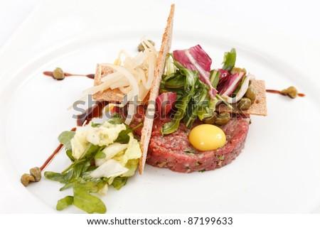 tasty tartare - stock photo