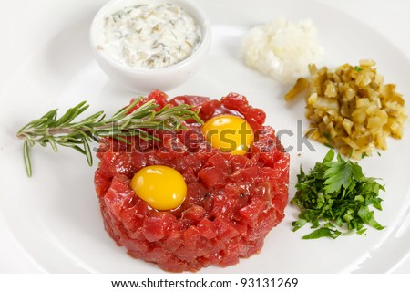 tasty tartare - stock photo