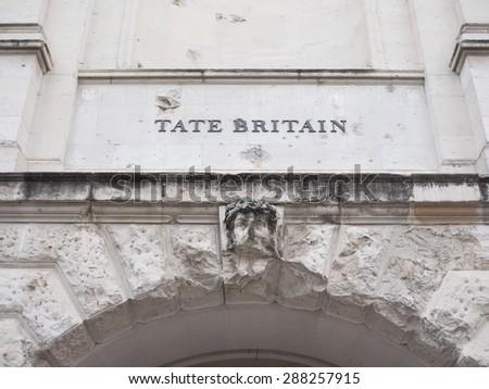 Tate Britain art gallery in London, UK - stock photo